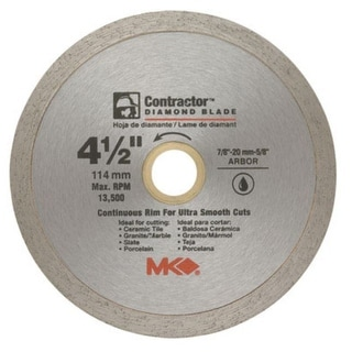 "MK Diamond 167028 Mk-99 Arbor Continuous Rim Diamond, 4.5"""