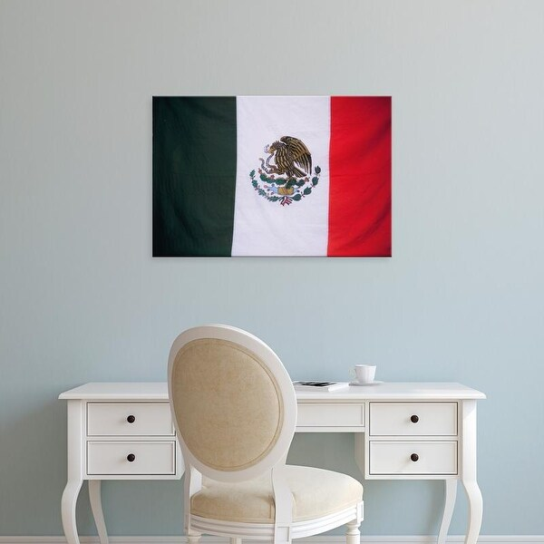 Easy Art Prints John & Lisa Merrill's 'Mexican National Flag' Premium Canvas Art