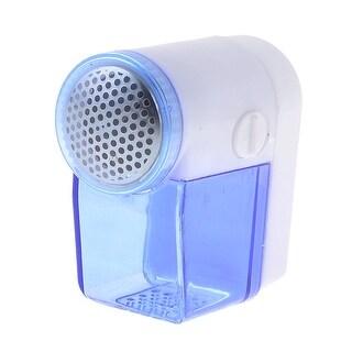 Unique Bargains White Clear Blue Plastic Shell Mini Clothes Lint Remover Shaver Hair Trimmer