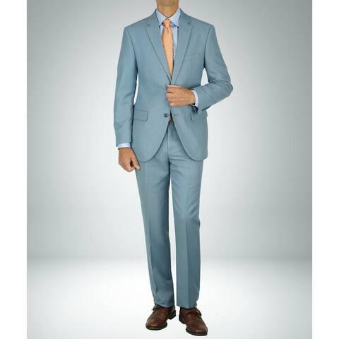 Carlo Studio Shark Skin Light Blue Modern-Fit Suit
