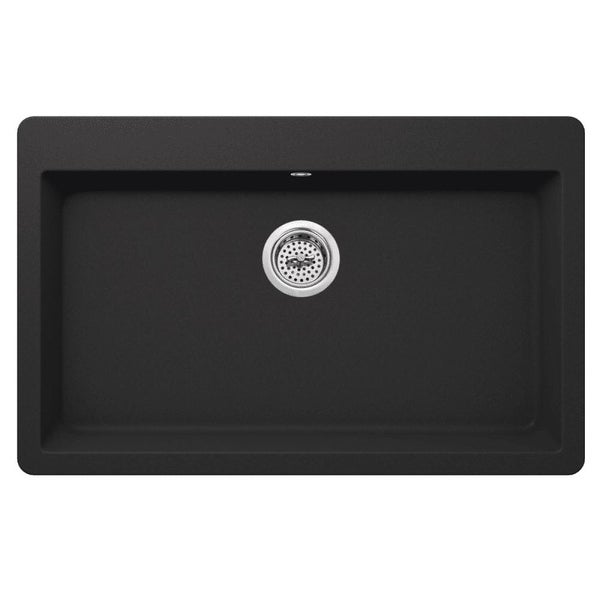 "Miseno MGR3321 Carolina 33"" Single Basin Drop In or Undermount Granite Composite Kitchen Sink - Basket Strainer Included - n/a"