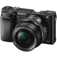Sony Alpha a6000 24.3MP Mirrorless Digital Camera with 16-50mm Lens (Black)