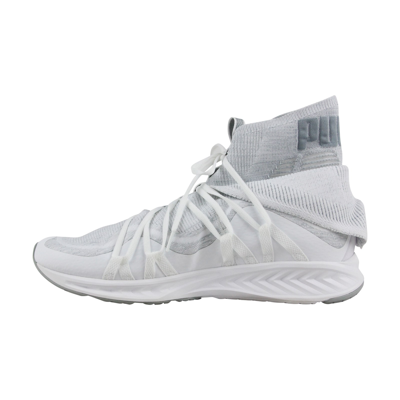 2af8d0ad9fd Shop Puma Ignite Evoknit Fold Mens White Textile Athletic Lace Up Training  Shoes - Free Shipping On Orders Over  45 - Overstock - 21729279