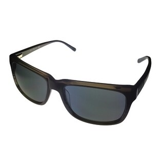 Kenneth Cole New York Mens Sunglass Rectangle Black, Smoke Lens KC7021 5A - Medium