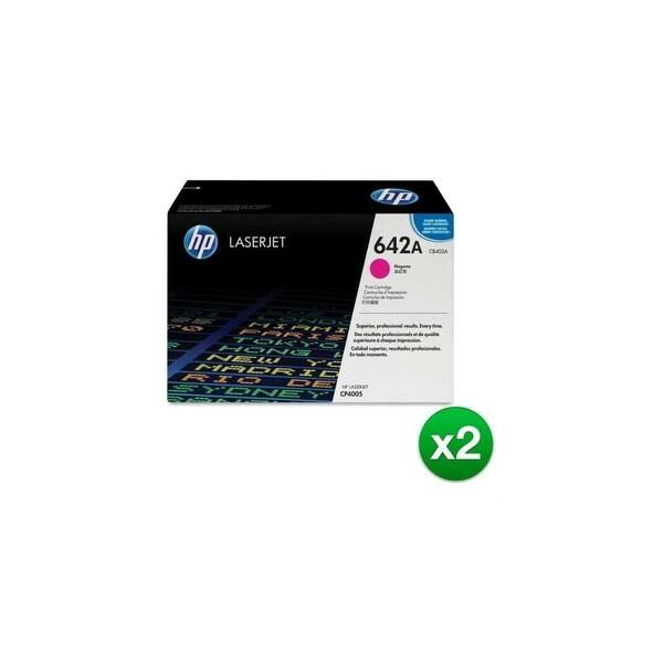 HP 642A Magenta Original LaserJet Toner Cartridge (CB403A)(2-Pack)