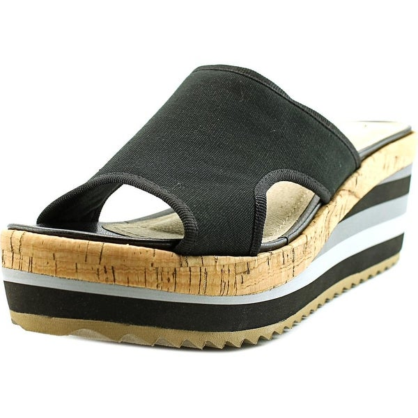 Skechers Cali Heart Breaker-Young Love Open Toe Canvas Wedge Sandal