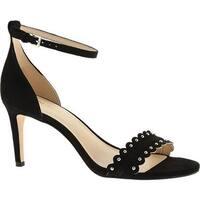Nine West Women's Idrina Ankle Strap Sandal Black Suede