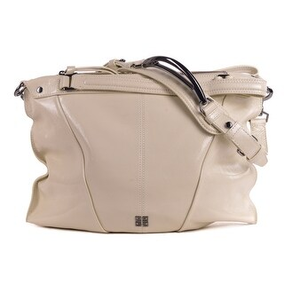 Givenchy Cream Ivory Gunmetal Silver Hobo Shoulder Bag