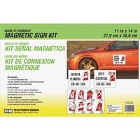 Hy-Ko 12X18 Myo Magnt Sign Kit