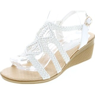 Link to Forever Link Paramount-02 Women's Woven Beaded Floral Boho Wedge Sandal Similar Items in Women's Shoes