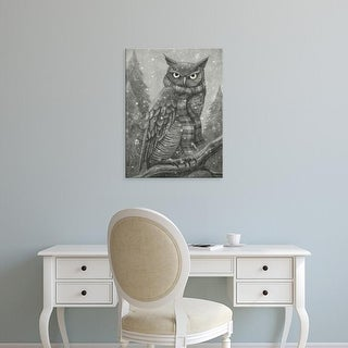 Easy Art Prints Terry Fan's 'Winter Owl' Premium Canvas Art