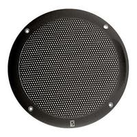 PolyPlanar  12542B Poly-Planar 4- Inch Round Flush-Mount Marine Speakers (Pair)