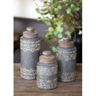 Heritage Lace AH-004 5 x 5 x 7.5 in. Artisan Home Canister Set