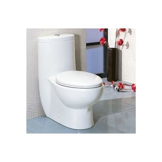 Eago TB309 Dual Flush Toilet One Piece Elongated Toilet - Includes Slow Closing