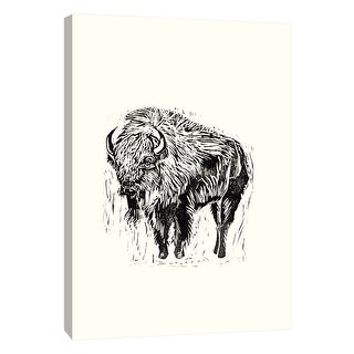 "PTM Images 9-105437  PTM Canvas Collection 10"" x 8"" - ""Into the Wild A"" Giclee Buffalo Art Print on Canvas"