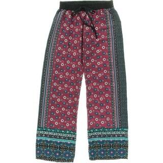 BeBop Womens Juniors Printed Lightweight Casual Pants - S