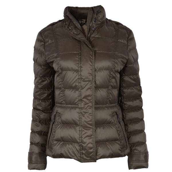Burberry Brit Women's Olive Green Dalesbury Duck Down Puffer Jacket. Opens flyout.