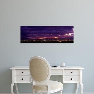 Easy Art Prints Panoramic Images's 'Storm, Las Vegas, Nevada, USA' Premium Canvas Art