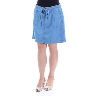 TOMMY HILFIGER $65 Womens New 1226 Light Blue Mini A-Line Casual Skirt 12 B+B