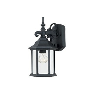 """Designers Fountain 2961-BK 1 Light 6.25"""" Cast Aluminum Wall Lantern from the Devonshire Collection"""