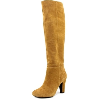 Jessica Simpson Ference Women Round Toe Suede Tan Knee High Boot