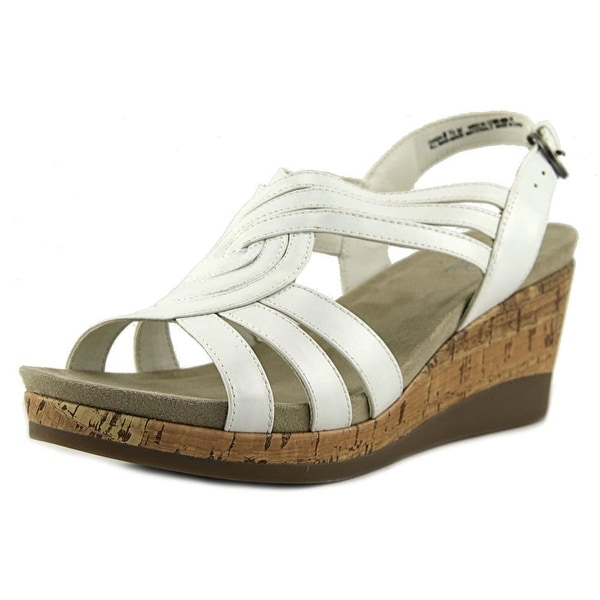 Kim Rogers Giada Open Toe Leather Wedge Sandal