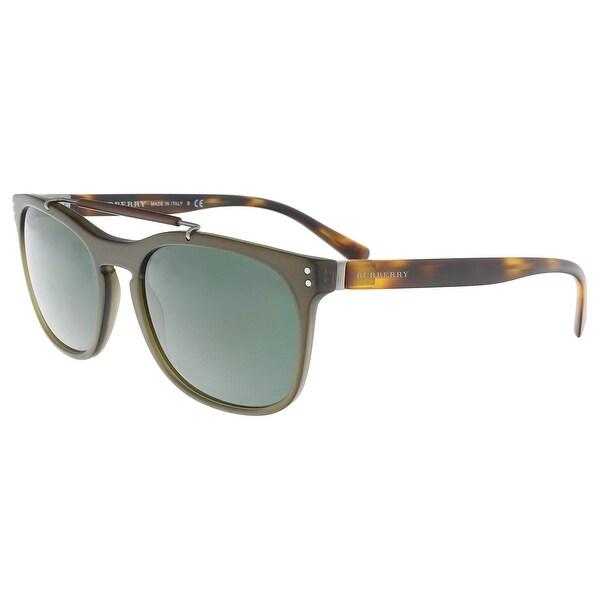 24e36aec9fb Burberry BE4244 361671 Moss Green  Tortoise Rectangle Sunglasses -  56-19-145. Click to Zoom