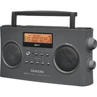 Sangean PRD15G Sangean PR-D15 FM-Stereo/AM Rechargeable Portable Radio with Handle Gray