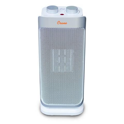 Crane 1,500 Watt Ceramic Mini Oscillating Tower Space Heater
