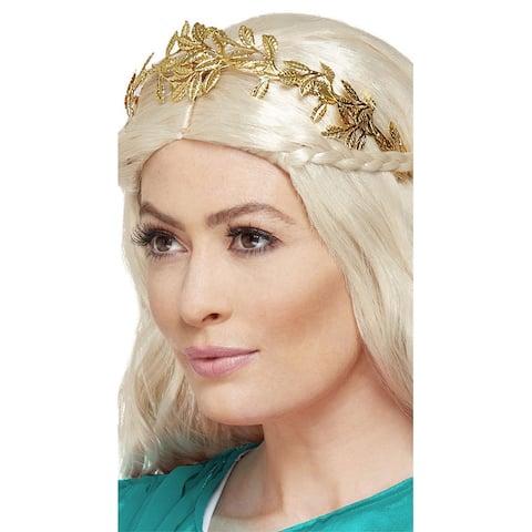 Grecian Leaf Headband - Gold - One Size Fits Most
