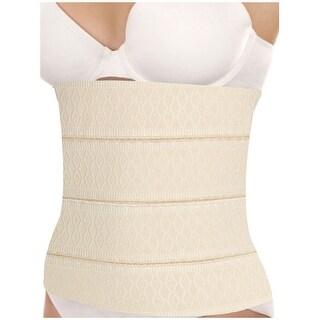 Unique Bargains Women's Adjustable Elastic Corset Ladies Waist Cincher Shaper Beige (Size M / 8)