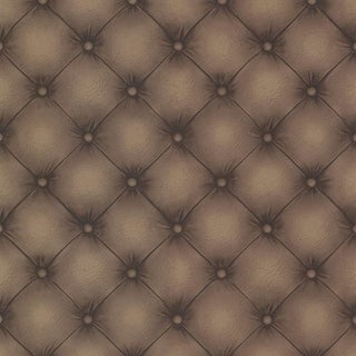 Brewster 2604-21232 Chesterfield Chestnut Tufted Leather Wallpaper