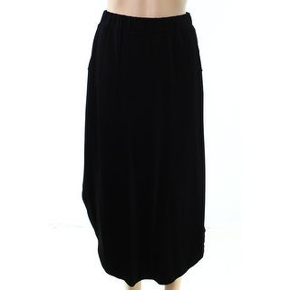 A-Line NEW Black Womens Size PXS Petite Mid-Rise Stretch Knit Skirt
