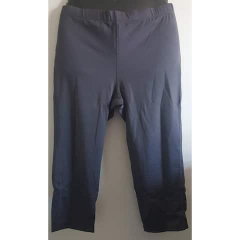 Capri-length Leggings - solid grey