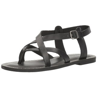 Lucky Brand Womens Adinis Leather Open Toe Casual Strappy Sandals