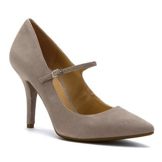 MICHAEL Michael Kors Womens Claire Flex Mary Jane Suede Pointed Toe Ankle Str...