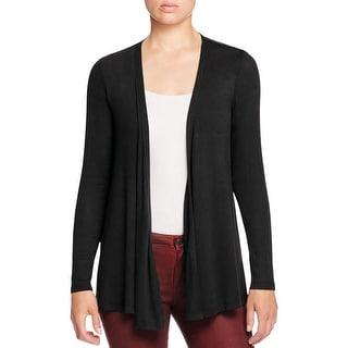 Bobeau Womens Cardigan Top Contrast Trim Knit