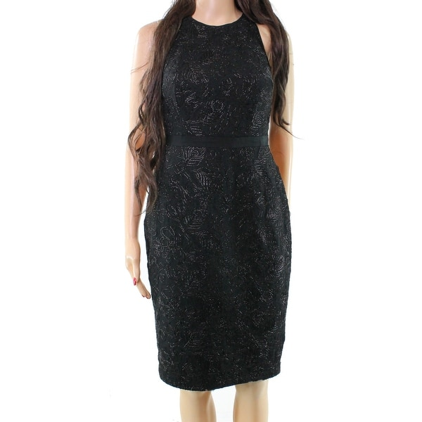 990dc8fd Shop Laundry by Shelli Segal Black Women Size 4 Embroidered Sheath Dress - Free  Shipping On Orders Over $45 - Overstock - 20342733