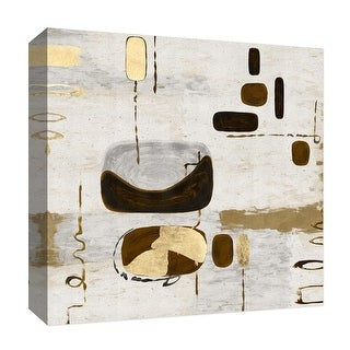 "PTM Images 9-126815  PTM Canvas Collection 12"" x 12"" - ""Golden Touches III"" Giclee Abstract Art Print on Canvas"