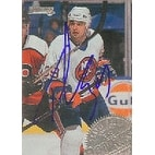 Travis Green New York Islanders 1995 Donruss Autographed Card This item comes with a certificate o