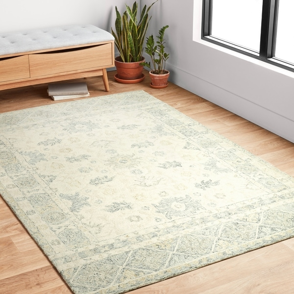 Alexander Home Annabelle Botanical Bloom Hand-Hooked Wool Rug. Opens flyout.