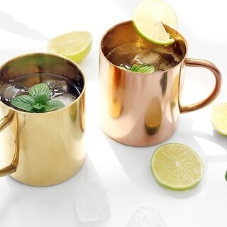 G Home Collection Moscow Mule Summer Mug Cup Set of 2