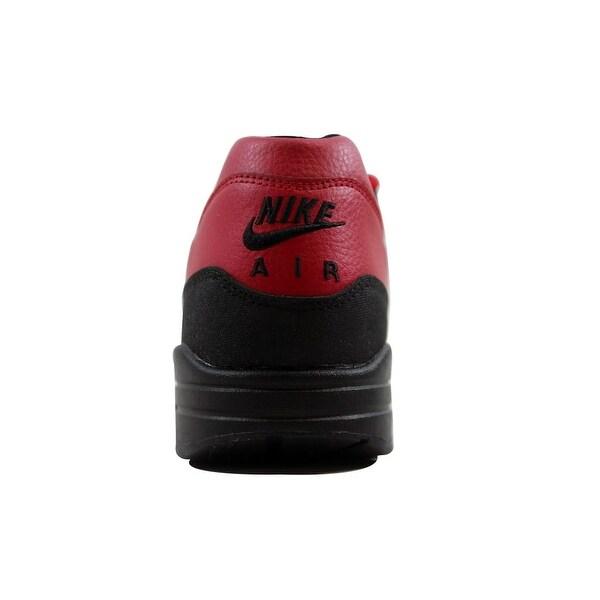 Nike Air Max 1 Leather Premium Gym Red Black Sneaker Bar