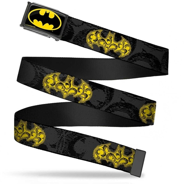 Batman Fcg Black Yellow Black Frame Swirl Bat Signal Black Gray Web Belt
