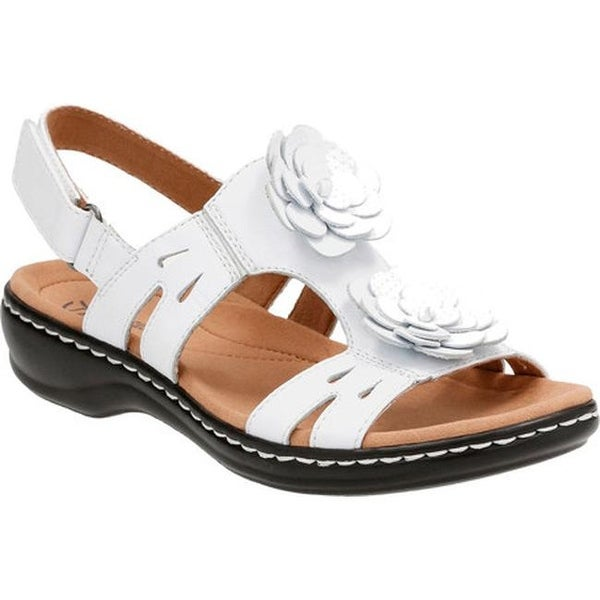 b0cdbbc94f4 ... Women s Shoes     Women s Sandals. Clarks Women  x27 s Leisa Claytin  Strappy Sandal White Leather
