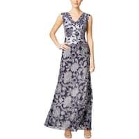 Tadashi Shoji Womens Evening Dress Sleeveless Lace