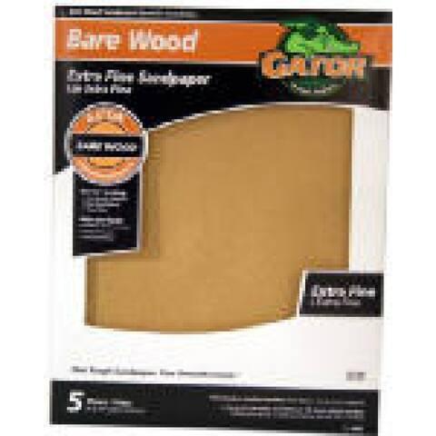 "Gator 4465 Bare Wood Sanding Sheet, 220 Grit, 9"" x 11"""