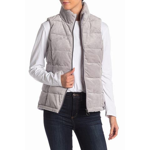 Gerry Light Gray Women's Size Large L Zip Front Jade Puffer Vest