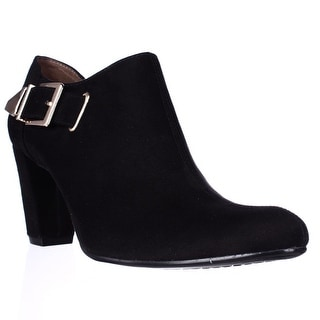 Aerosoles Effortless Buckle Ankle Booties - Black