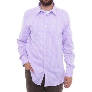 Versace Long Sleeve Dress Shirt Men Regular Dress Button
